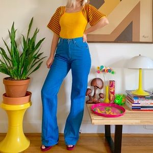 Perfect fit Vintage 70s high waisted flares 26x33